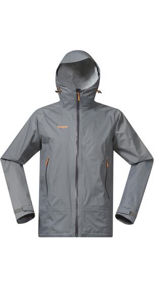 Bergans M's Sky Jacket Solid Grey/Solid Charcoal/Pumpkin